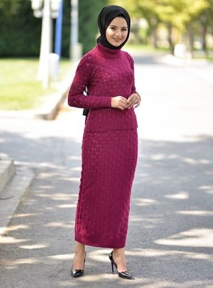 Cherry - Unlined - Acrylic -  - Knit Suits