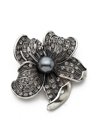 Silver tone - Brooch - Modex