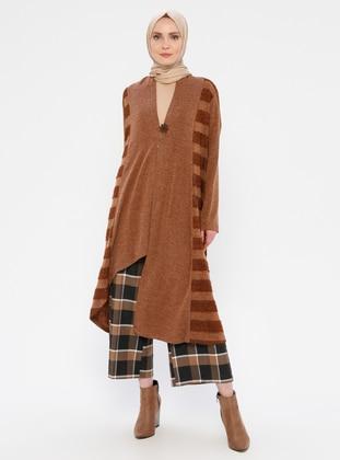 Camel - Viscose - Cardigan