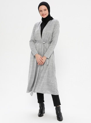 Gray - Cardigan - Peker