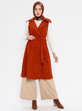 Terra Cotta - Unlined - Shawl Collar - Vest