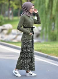 Khaki - Unlined - Acrylic -  - Knit Suits