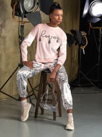 Salmon - Crew neck - Pyjama Set