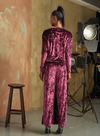 Plum - Crew neck - Pyjama Set