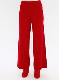 Red - Unlined - Acrylic -  - Knit Suits