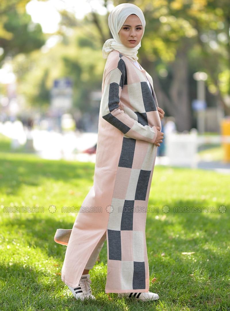 Powder - Stripe - Unlined - Acrylic -  - Knit Cardigans