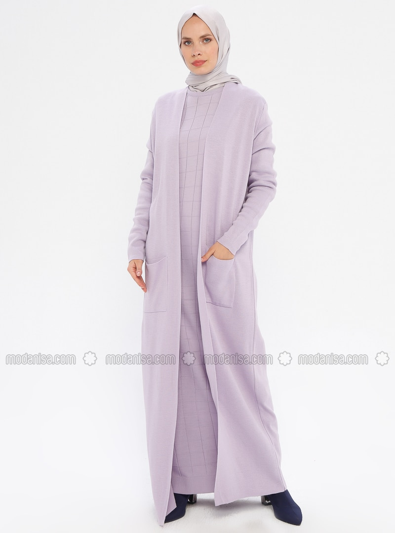 Lilac - Unlined - Acrylic -  - Knit Suits
