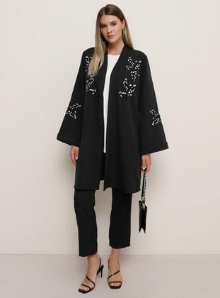 Black - Plus Size Evening Suit - Alia