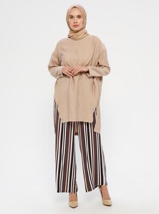 Multi - Stripe -  - Pants