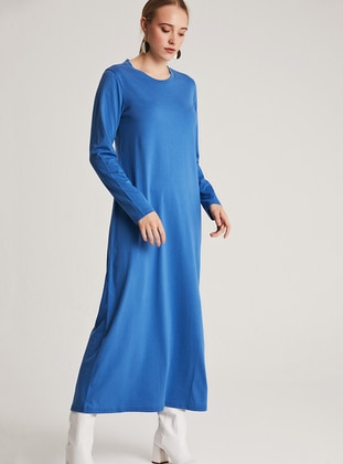 Indigo - Crew neck - Unlined -  - Dress