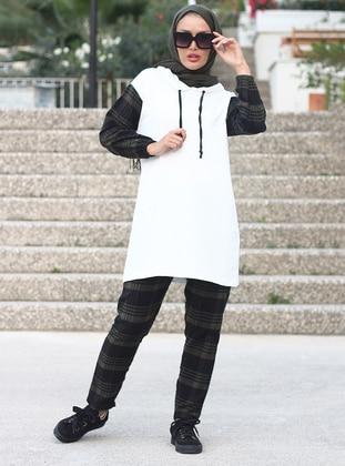 White - Khaki - Unlined -  - Suit