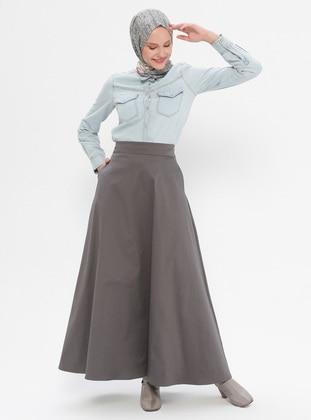 Gray - Unlined -  - Skirt