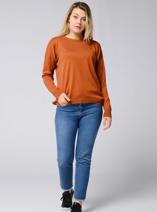 Terra Cotta - Crew neck - Acrylic -  - Viscose - Jumper