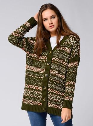 Khaki - Knit Cardigans