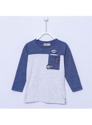 Blue - Boys` T-Shirt