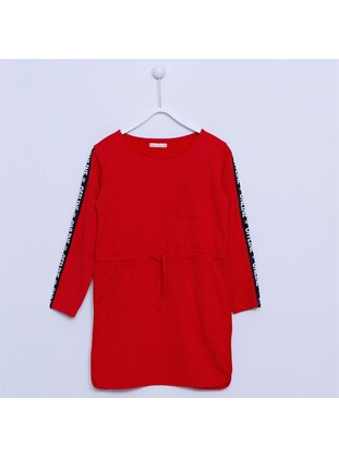 Red - Girls` Dress - Silversun