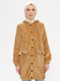 Camel - Unlined - Topcoat - LOREEN