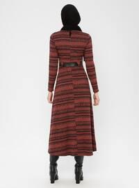 Terra Cotta - Multi - Crew neck - Unlined - Dress