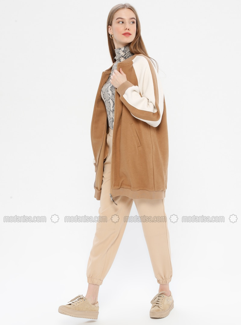 Camel - Crew neck - Topcoat