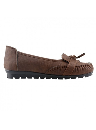Brown - Flat Shoes