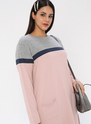 Powder - Crew neck - Acrylic -  - Plus Size Tunic