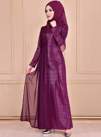 Plum - Crew neck - Dress