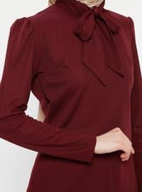 Maroon - Brown - Leopard - Muslim Evening Dress