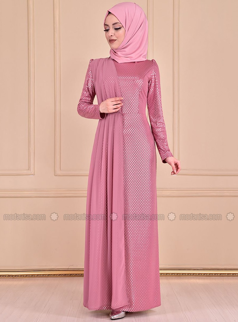 Dusty Rose - Crew neck - Dress