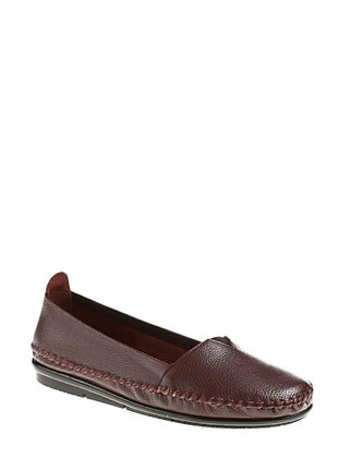Maroon - Flat Shoes