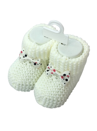 White - baby booties