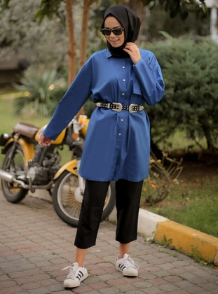 Saxe - Point Collar -  - Tunic