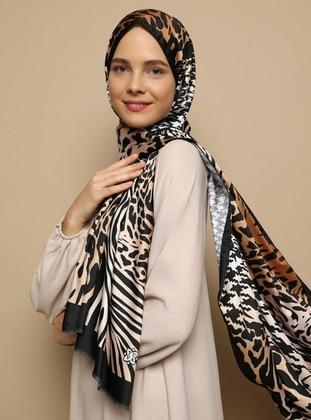 Multi - Leopard - Twill - Shawl