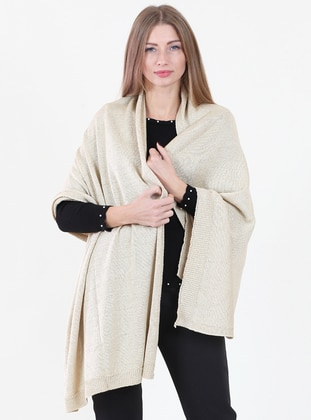-  - Gold - Plain - Shawl Wrap