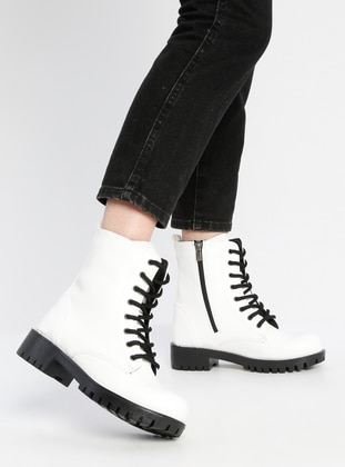 White - Boot - Boots - Snox
