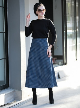 Saxe - Plaid - Unlined -  - Skirt
