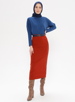 Terra Cotta - Unlined -  - Skirt