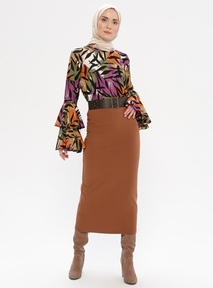 Tan - Unlined -  - Skirt