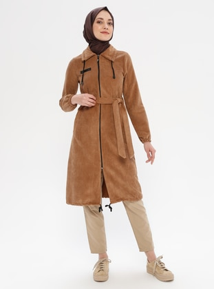 Camel - Unlined - Point Collar - Nylon - Topcoat