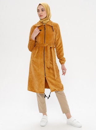 Mustard - Unlined - Point Collar - Nylon - Topcoat