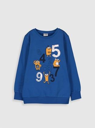 Blue - Boys` Sweatshirt - LC WAIKIKI