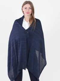 -  - Navy Blue - Plain - Shawl Wrap
