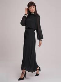 Black - Polo neck - Dress