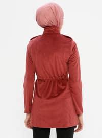 Dusty Rose - Unlined - Polo neck - Jacket