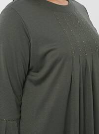 Khaki - Plus Size Dress