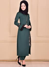 Unlined - Emerald - Evening Suit