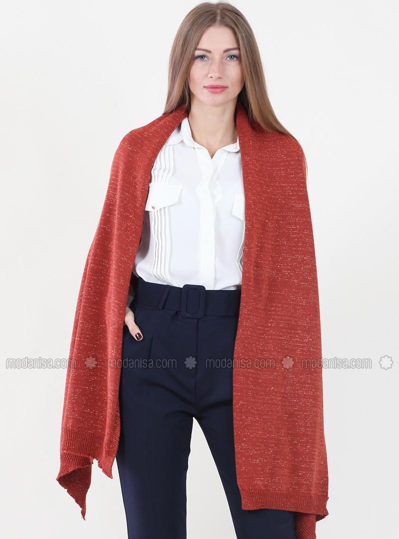 -  - Orange - Plain - Shawl Wrap