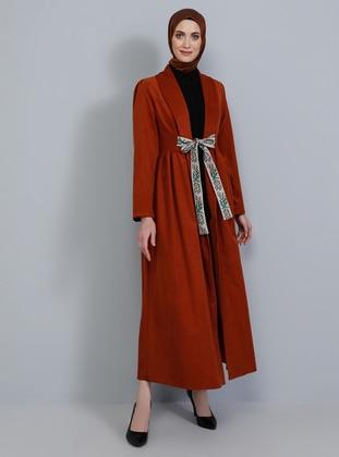 Terra Cotta - Unlined - Shawl Collar - Topcoat
