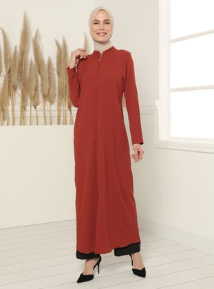 Zippered Abaya - Tile