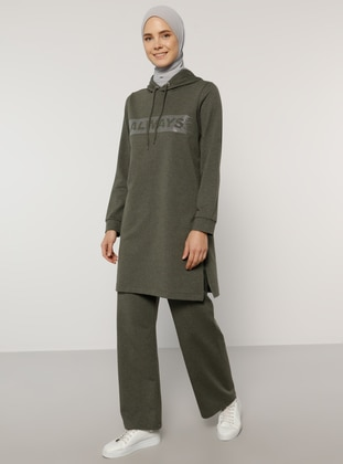 Khaki - Khaki - Unlined -  - Tracksuit Set