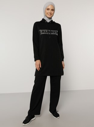Black - Black - Unlined -  - Tracksuit Set